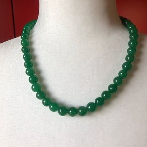 Jade bead necklace with adjustable clasp NWOT